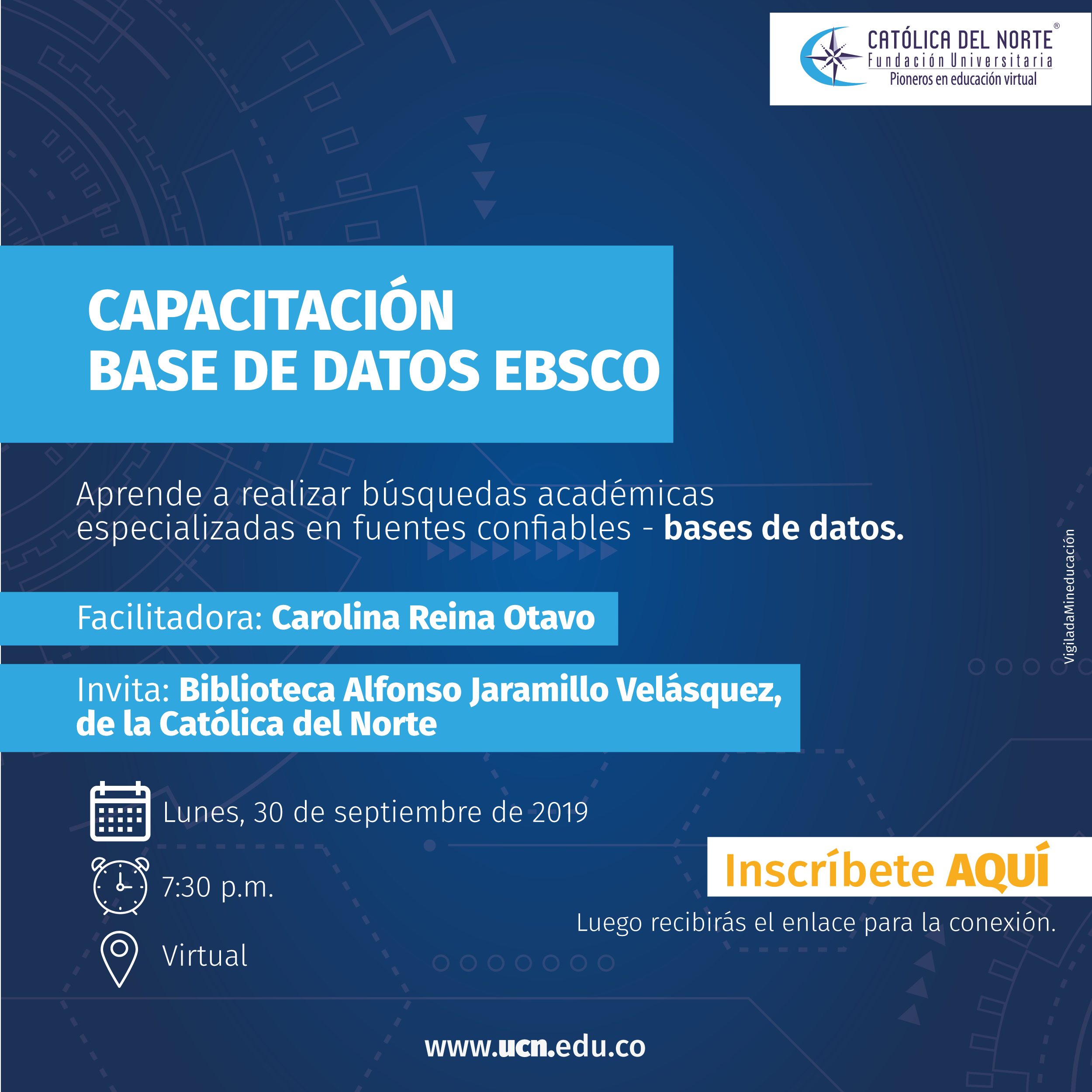 Capacitación base de datos Ebsco
